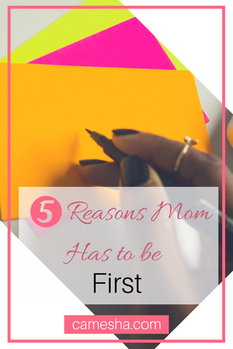 Putting yourself first is a natural instinct. Unless you're a mom