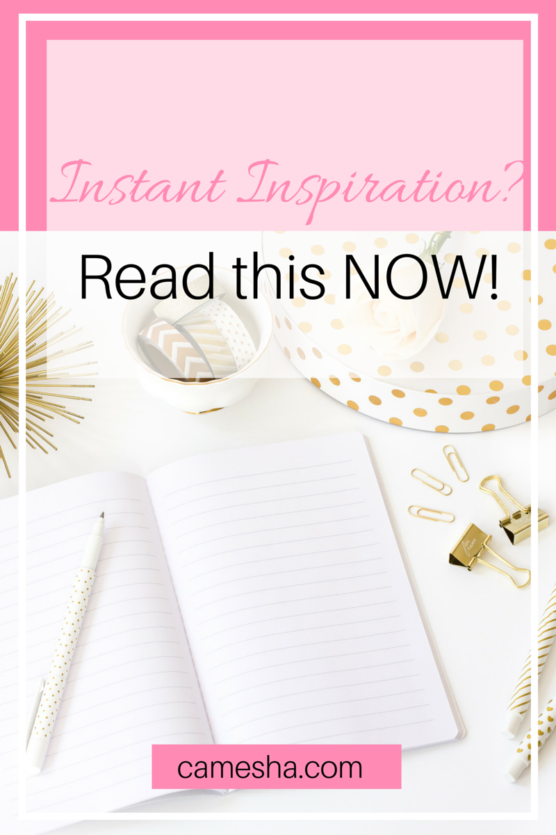 Need instant inspiration? Read this now! My inspiration to smash my goals came from an unlikely spot!