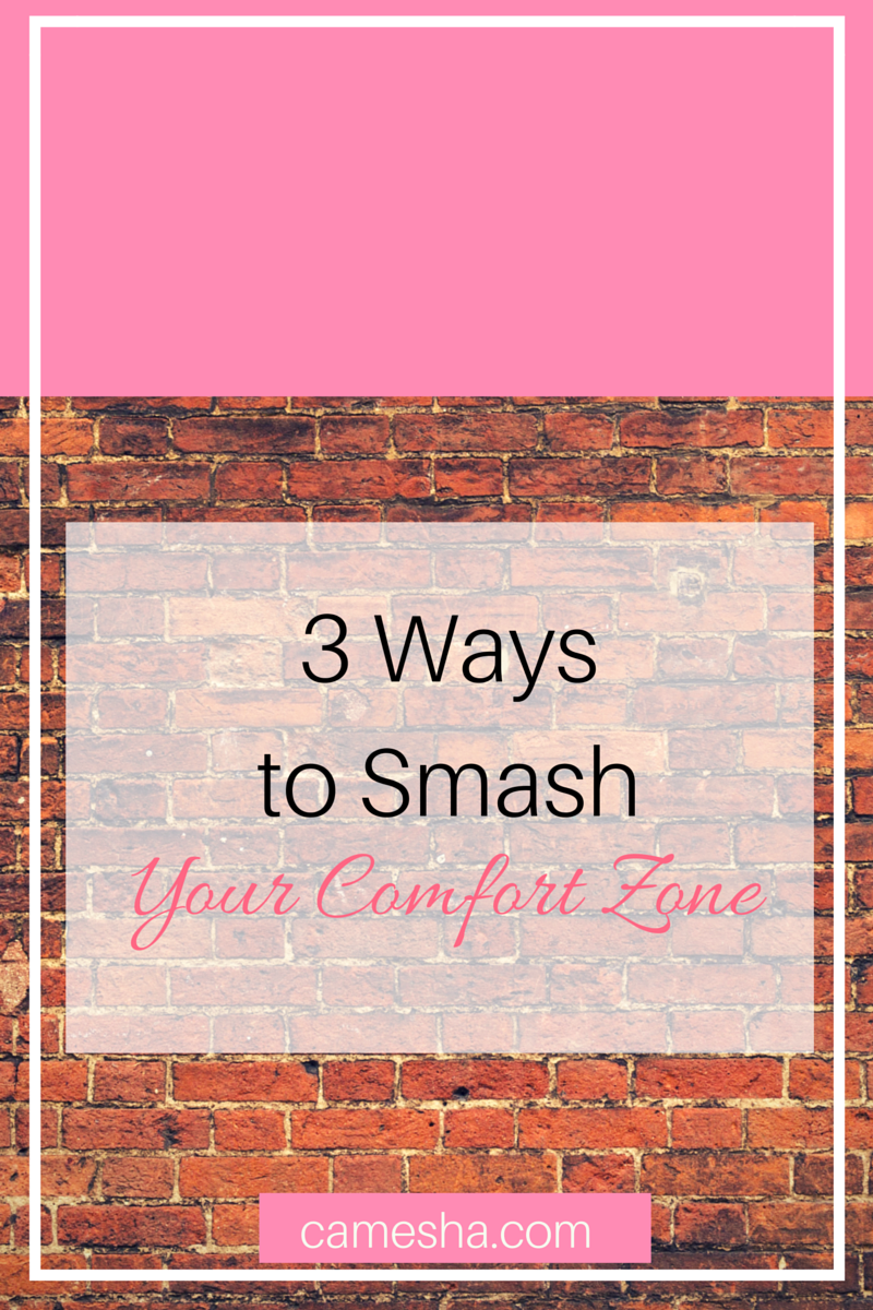3 Ways to smash your comfort zone. My comfort zone don't allow me to stick around when my time is up - even when I'm not ready for change. It' a scary feeling. It's also non-negotiable.
