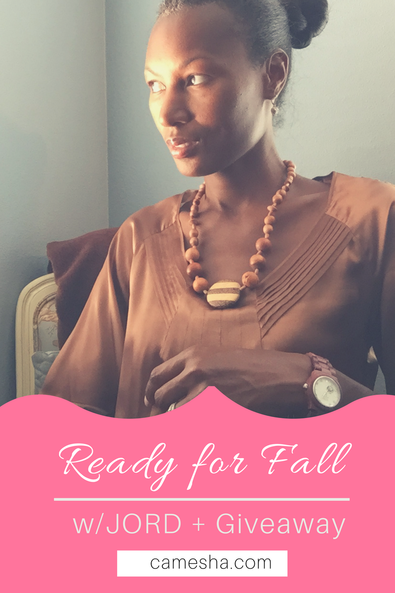 I'm getting ready for Fall with a new style staple. JORD's unique watches are a go to this season!