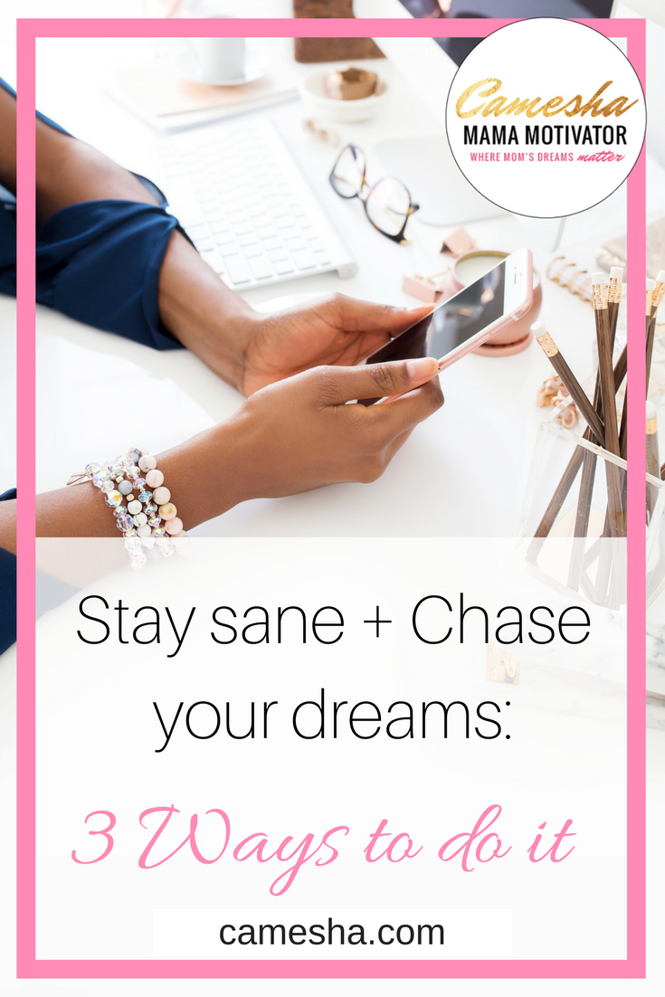 It's hard to chase your dreams if you're trying to keep up with the Joneses'. I've got 3 ways to stay sane + chase your dreams.